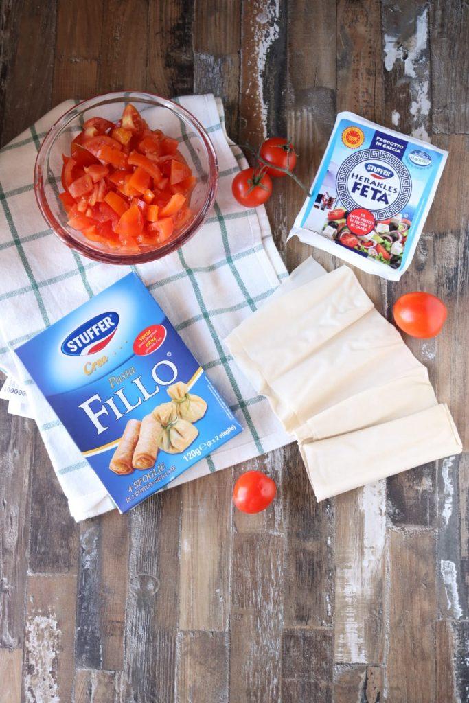girelle di pasta fillo - ingredienti